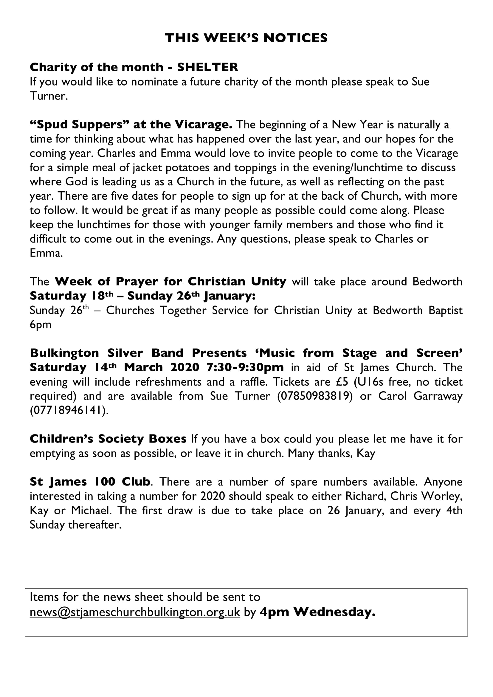 News sheet 26Jan20 3