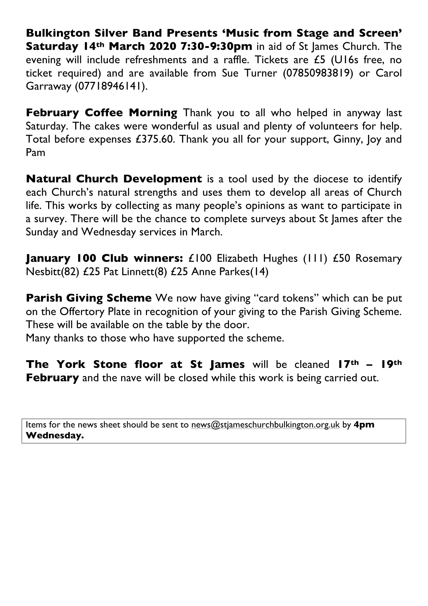 News sheet 9Feb20 3