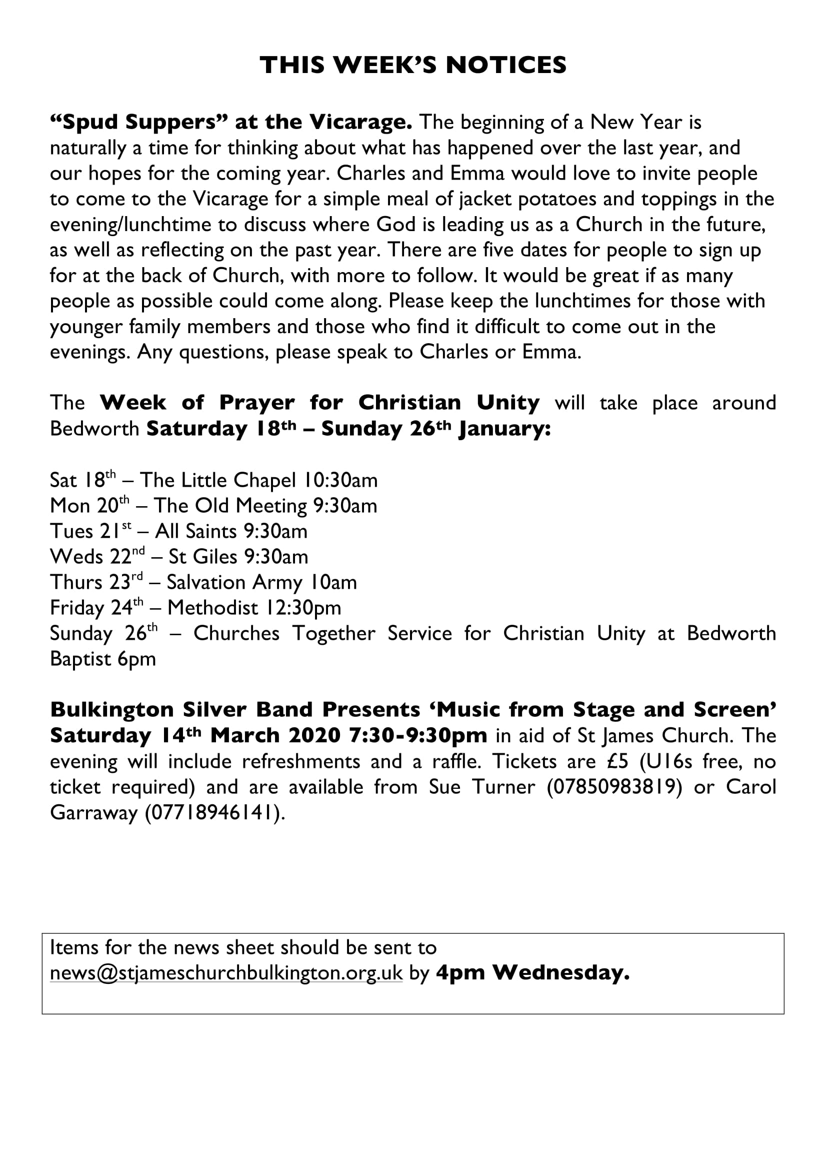 News sheet 12Jan20 Page 3